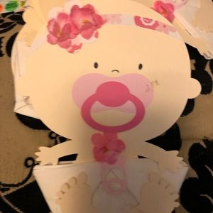 Other - Baby girl shower napkin deco